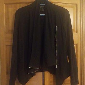 Inc. Black Drape front light jacket
